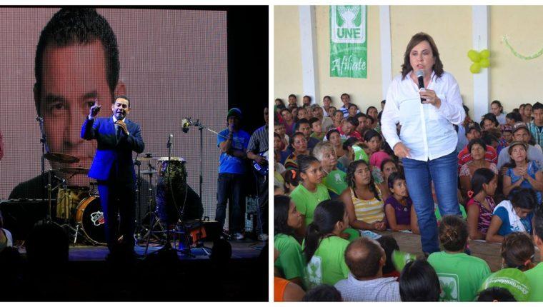 Los candidatos intentarán viajar a todos los departamentos para realizar mítines. (Foto prensa Libre: Hemeroteca PL)