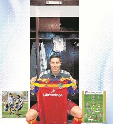 ELÍAS ENOC muestra la camisola del Real Salt Lake. El nacional está entre los jugadores a seguir en la MLS.