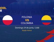Polonia y Colombia cierran la jornada de este domingo en el Mundial de Rusia 2018. (Foto Prensa Libre: TodoDeportes)