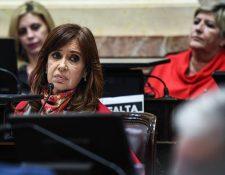 """La expresidenta argentina Cristina Fernández negó ante la Justicia haber recibido sobornos de empresarios durante su etapa como gobernante por el caso """"cuadernos de la corrupción"""". (AFP)"""