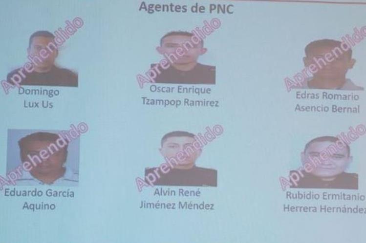 Los seis agentes fueron detenidos el 18 de enero de 2017. (Foto Prensa Libre: Hemeroteca PL)