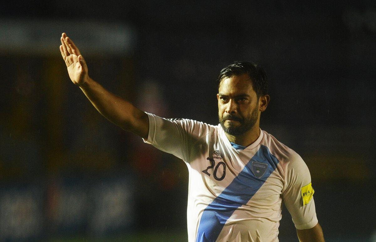 Carlos Ruiz jugó su último partido con la Selección Nacional en septiembre del 2016. (Foto Prensa Libre: Francisco Sánchez).
