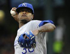 Los Reales de Kansas City expresaron este lunes su dolor por la muerte del joven lanzador dominicano Yordano Ventura. (Foto Prensa Libre: AFP)