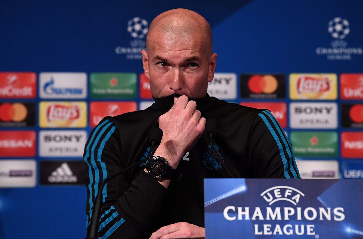 Zinedine Zidane afirma que será un duelo difícil en el Parque de los Príncipes. (Foto Prensa Libre. AFP)