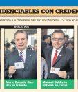 Edwin Escobar habla con algunos medios después de recibir su credencial como candidato alcalde de Villa Nueva. (Foto Prensa Libre: Estuardo Paredes)