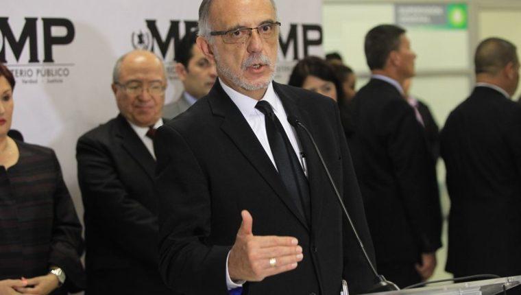 Iván Velásquez, quien presentó este martes el informe anual de labores de la Cicig, indicó que el nuevo trámite para renovación de su visa ya fue efectuado. (Foto Prensa Libre: Esbin García)