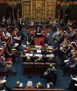 Una vista general de la Cámara de los Lores en sesión en las Casas del Parlamento en Londres.(AFP).