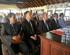La Cámara de Medios de Comunicación durante la vista pública ante el pleno de magistrados de la CC el 16 de mayo del 2018. (Foto Prensa Libre: Hemeroteca PL)