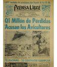 Portada de Prensa Libre del 21/02/1976 sobre daños en las granjas avícolas. (Foto: Hemeroteca PL).
