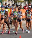Mirna Ortiz y Maritza Poncio cumplieron con su participación en Río. (Foto Prensa Libre: Jeniffer Gómez).