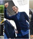 Los futbolistas marcan tendencia en la moda, en Cardiff. (Foto Prensa Libre)