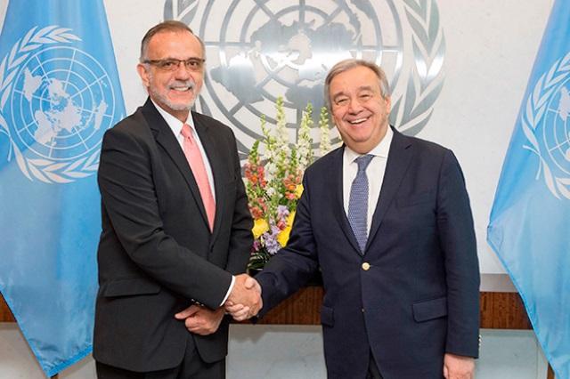 El secretario general de Naciones Unidas, António Guterres, reiteró el respaldo al comisionado y pidió un trato con respeto. (Foto Prensa Libre: Cicig)