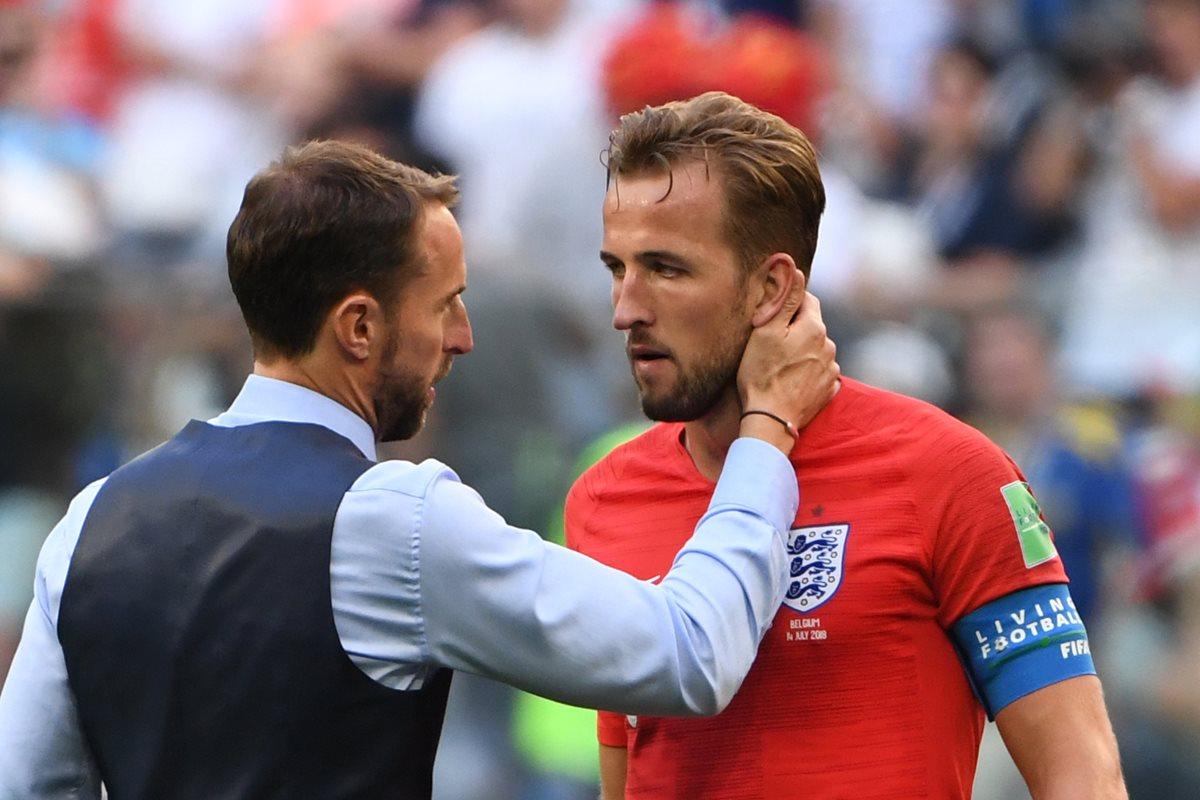 Kane aún puede conseguir el título personal de goleador del torneo aunque su Selección haya quedado en cuarto lugar en Rusia 2018. (Foto Prensa Libre: AFP)