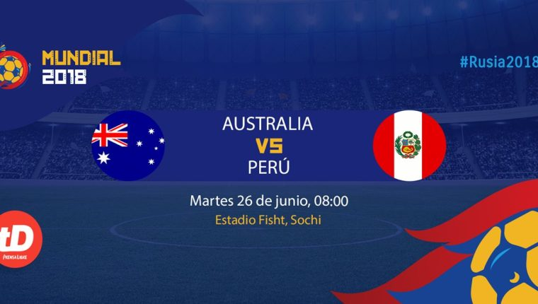 Australianos y peruanos se miden este martes en el Fisht Stadium. (Foto Prensa Libre: TodoDeportes)