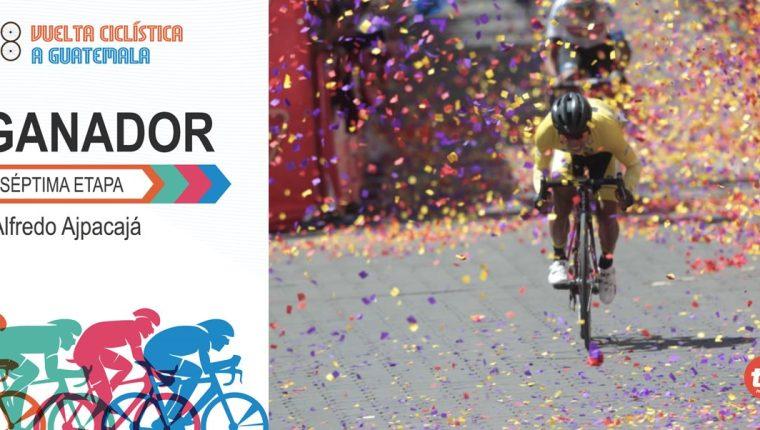 Alfredo Ajpacajá es el segundo guatemalteco en ganar una etapa en la 58 Vuelta a Guatemala. (Foto Prensa Libre: Norvin Mendoza)