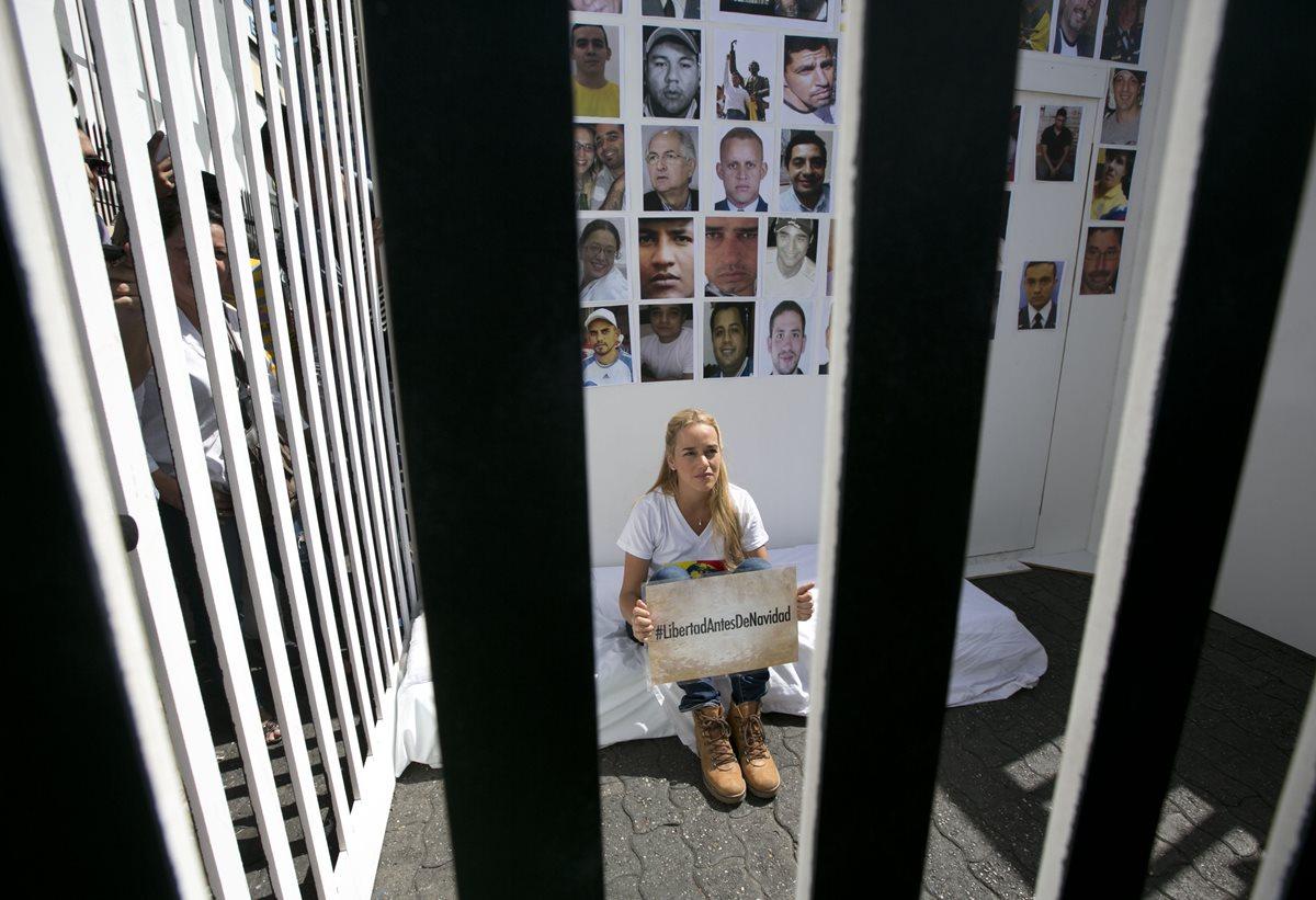 Esposa de líder opositor venezolano pide su liberación