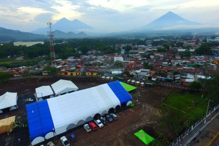 En la finca La Industria, Escuintla, se instaló un mega albergue en el cual habitarán las personas afectadas por la erupción del Volcán de Fuego.