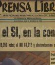 Titular de Prensa Libre del 31 de enero de 1994. (Foto: Hemeroteca PL)