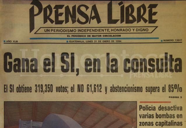 1994: ciudadanos deciden reformar la Constitución Política
