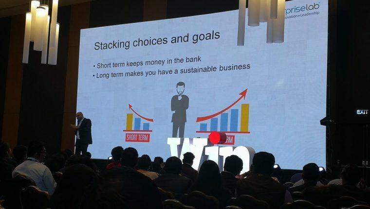 Ketan Makwana fue uno de los conferencistas invitados en el Training Day 2018 quien habló sobre cómo desarrollar la mente de los emprendedores. (Foto Prensa Libre: Natiana Gándara)