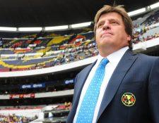 El América anunció el regreso del técnico Miguel Herrera para el siguiente torneo. (Foto Prensa Libre: Hemeroteca)