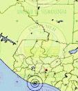 Mapa muestra epicentro del sismo. (Foto Prensa Libre: Insivumeh)