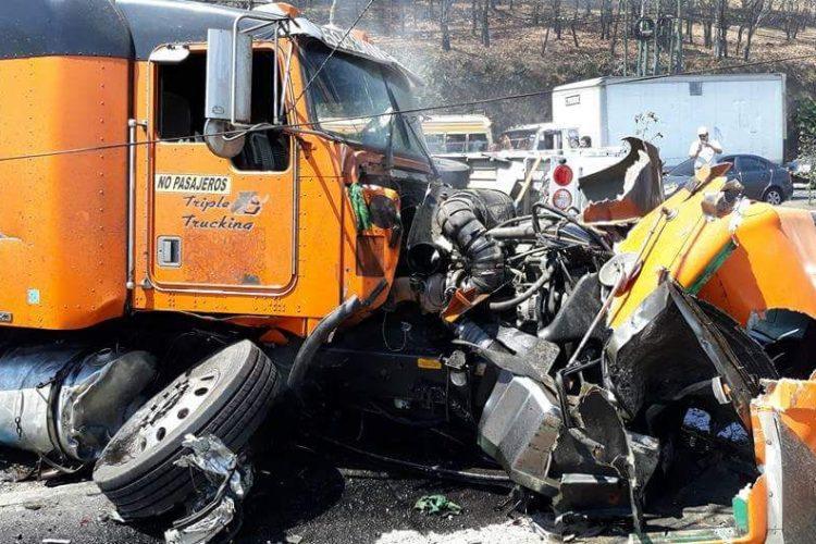 El accidente fue en el kilómetro 18 de la ruta Interamericana