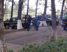 El fin de semana se llevó a cabo un simulacro de motín con rehenes en Etapa 2. (Foto Prensa Libre: @PanchoMolinaM)