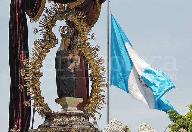 La Virgen del Socorro es la imagen más antigua de Guatemala, fue traída en 1524. (Foto: Néstor Galicia)