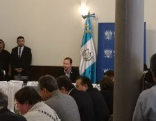 En la sesión de Jefes de Bloques se informó que el martes el pleno conocerá la solicitud de antejuicio en contra del presidente Jimmy Morales. (Foto Prensa Libre: Carlos Álvarez)