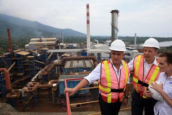 La planta se encuentra en El Estor, Izabal. (Foto Prensa Libre: AGN)
