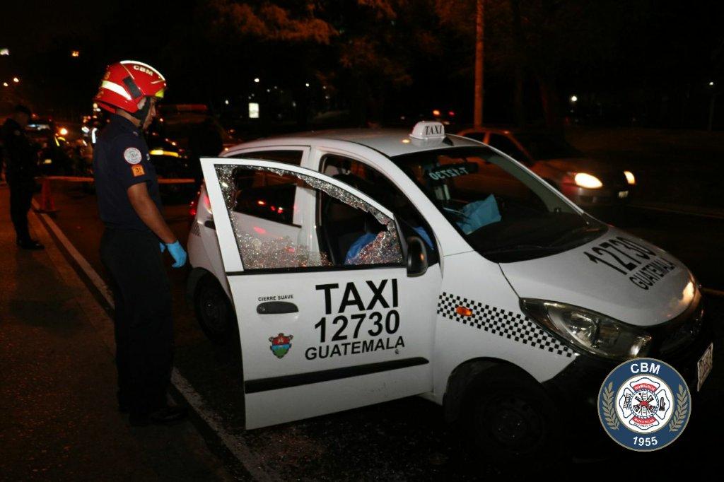 Matan a taxista y dos peatones resultan heridos en zona 15