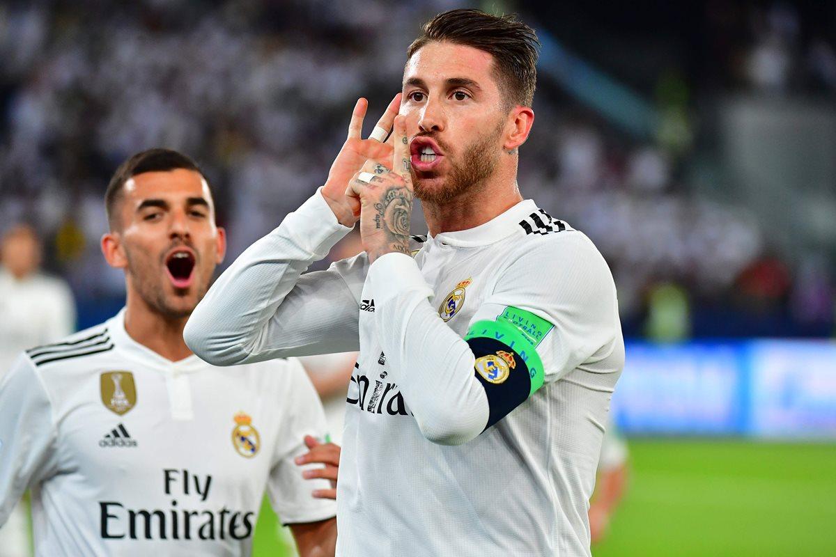 Sergio Ramos le dedicó su gol a la afición presente. (Foto Prensa Libre: AFP)