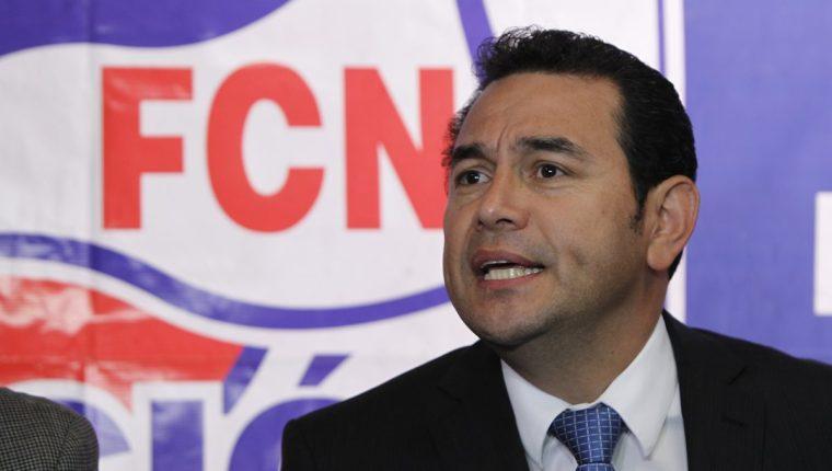 El presidenciable del partido Frente de Convergencia Nacional (FCN) fue denunciado por agresión física y contra la mujer. (Foto Prensa Libre: Hemeroteca PL)