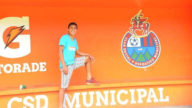 John Méndez Sánchez disfruta de las sensaciones de ser jugador de Municipal (Foto Prensa Libre: Edwin Fajardo)