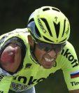A pesar del golpe, Contador continuó la competencia. (Foto Prensa Libre: AP)