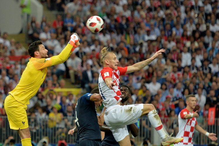 Los Croatas ejercieron presión al portero francés Hugo Lloris pero solo lograron marcar en dos ocasiones.