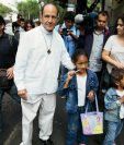 La caravana del Viacrucis Migrante, en cabeza del sacerdote Alejandro Solalinde (Foto prensa Libre:AP)