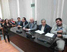 Los implicados en el caso Bancafé durante la lectura de la sentencia.( Foto Prensa Libre: Erick Ávila)
