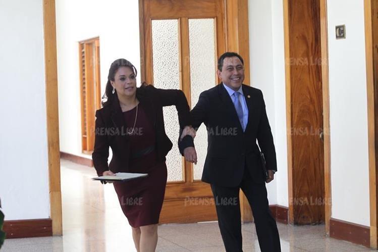 Roxana Baldetti y Mauricio López Bonilla fueron acusados por narcotráfico en una corte de Estados Unidos. (Foto Prensa Libre: Hemeroteca PL)