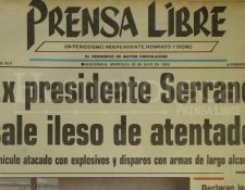 Titular de Prensa Libre del 28 de julio de 1993. (Foto : Hemeroteca PL)
