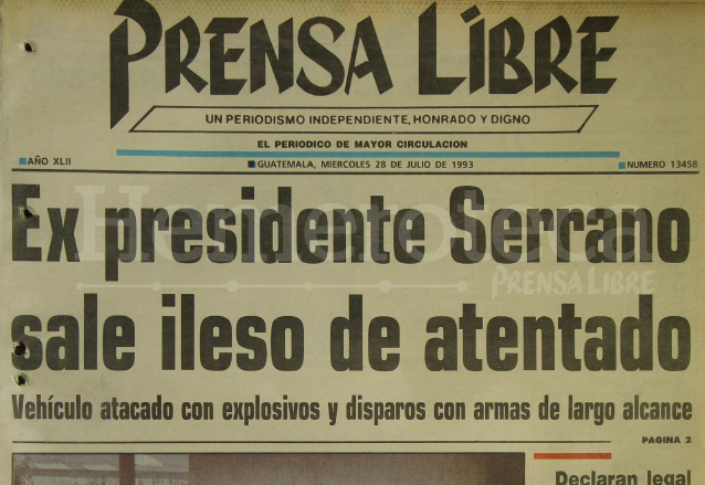 1993: atentan contra ex presidente Jorge Serrano en Panamá