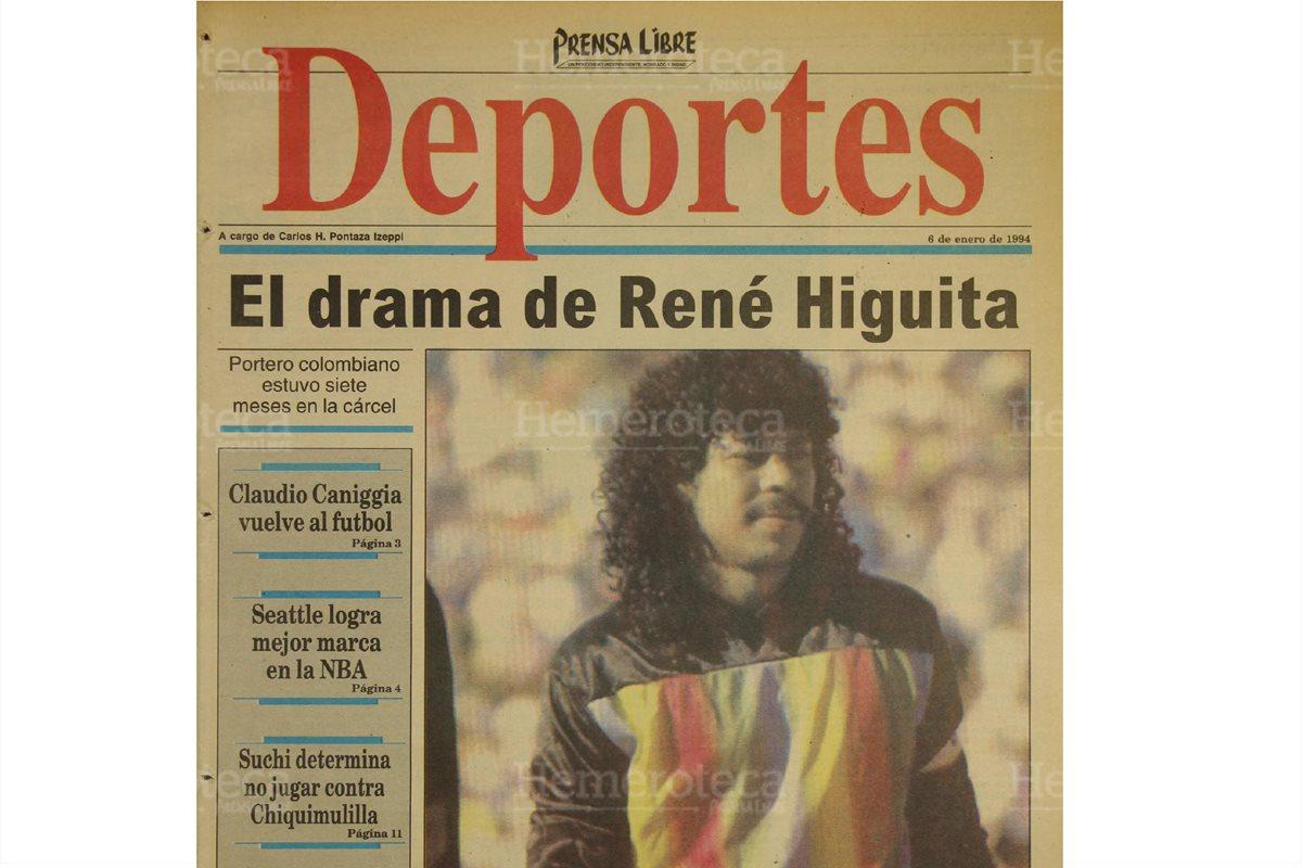 El loco Higuita, entre futbol y problemas