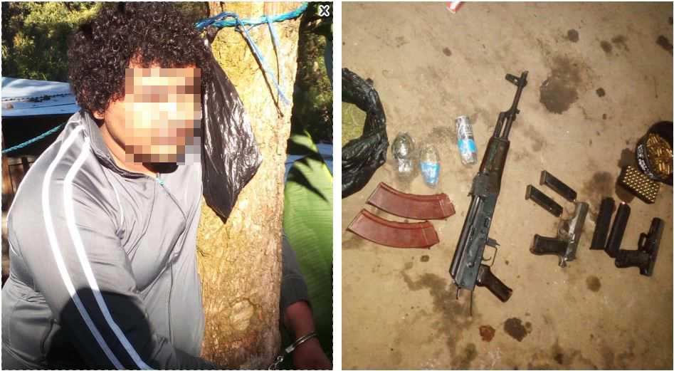 Capturan a hondureño que en su vivienda ocultaba armas de fuego, artefactos explosivos y droga
