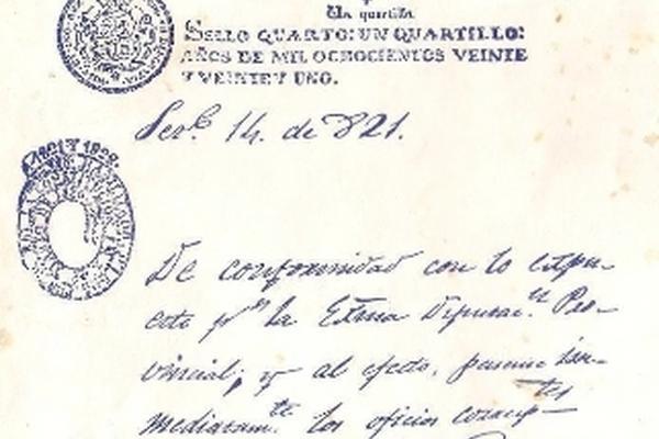 Página inicial del Acta de Independencia. (Foto Prensa Lilbre Archivo)