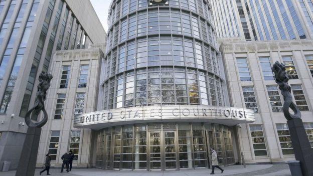 """La corte federal de Brooklyn donde es juzgado """"El Chapo"""" Guzmán se estremeció con el testimonio de """"Chupeta"""". GETTY IMAGES"""