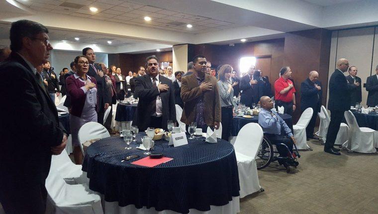 Gonzalo Romero, durante la conferencia de prensa de la FADO. (Foto Prensa Libre)
