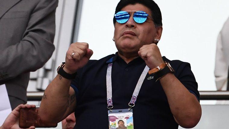 Maradona ha dado mucho de qué hablar en esta Copa del Mundo de Rusia 2018. (Foto Prensa Libre: AFP)