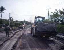 Las autoridades realizan trabajos de mitigación en la RN-14. (Foto Prensa Libre: Hemeroteca PL)