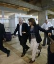 Los expresidentes de Costa Rica, Bolivia, México, entre otros, llegaron este sábado como observadores de las elecciones. (Foto Prensa Libre: AP)